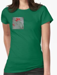 Red Flowers and the Grey Pavement T-Shirt