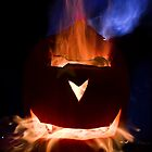Flaming Pumpkin by David Preston