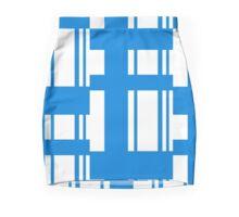 Blue strip pattern Mini Skirt