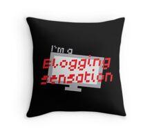 I'm a BLOGGING SENSATION! with modern computer screen Throw Pillow