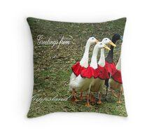 Ducking The Border - Gippsland Throw Pillow