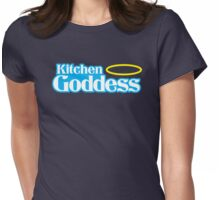 Kitchen Goddess with halo Womens Fitted T-Shirt