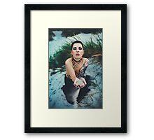 My Hands Nude Girl - NudeART Framed Print
