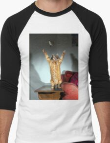 Playful cat Men's Baseball ¾ T-Shirt
