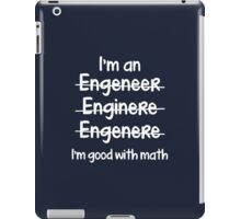 I'm Good With Math iPad Case/Skin
