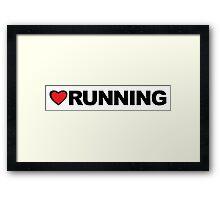 Love Running Framed Print