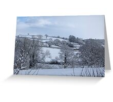 Winter Devon landscape Greeting Card