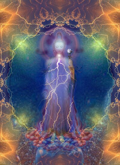 Quan Yin and the silent song of the lightning white rose of wisdom by Bill Brouard