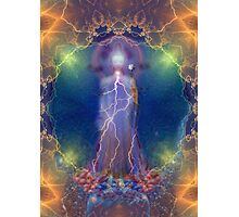 Quan Yin and the silent song of the lightning white rose of wisdom Photographic Print