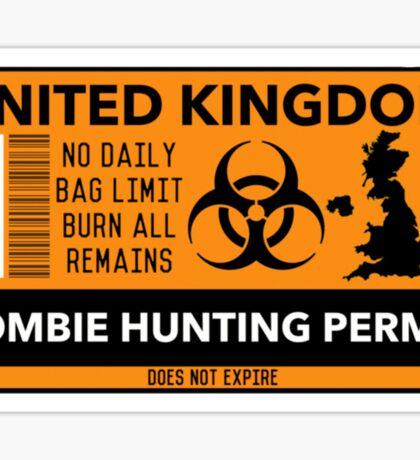 UK Zombie Permit Sticker