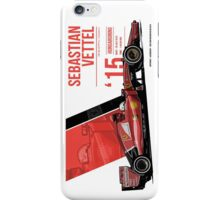 Sebastian Vettel - 2015 Hungaroring iPhone Case/Skin