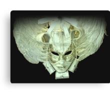 Venetian mask white Canvas Print