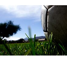 soccer in the sun Photographic Print