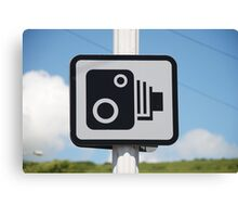 Speed camera warning sign Canvas Print