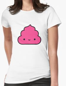 Mister Poo Pink Womens Fitted T-Shirt