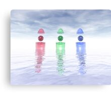 Surreal Glass Structures Canvas Print