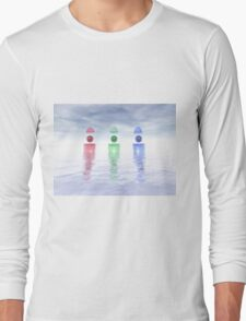 Surreal Glass Structures Long Sleeve T-Shirt