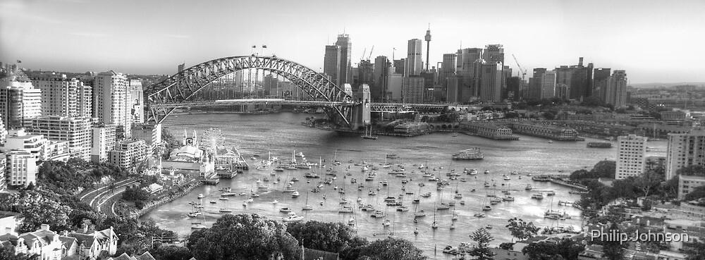 La Stupenda (Black & White) - Sydney Harbour, Sydney  Australia - The HDR Experience by Philip Johnson