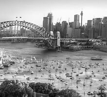 La Stupenda (Black & White) - Sydney Harbour, Sydney  Australia - The HDR Experience by Philip Johnson