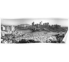 La Stupenda (Black & White) - Sydney Harbour, Sydney  Australia - The HDR Experience Poster