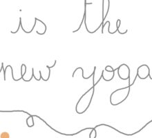 Knitting is the new yoga Sticker