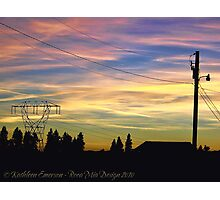 Nightfall Brings Beauty Photographic Print