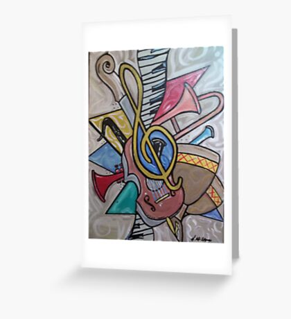 Musical Vibes Greeting Card