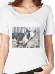 Mini Bulldog Terrier Women's Relaxed Fit T-Shirt