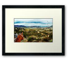 View of Vail Lake on Horseback Framed Print