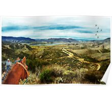 View of Vail Lake on Horseback Poster