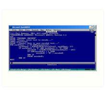 secret code-version I/b  -(050111)- ms paint/text Art Print