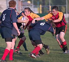 Rugby - Carrying the Ball - Nepean Ontario by Debbie Pinard