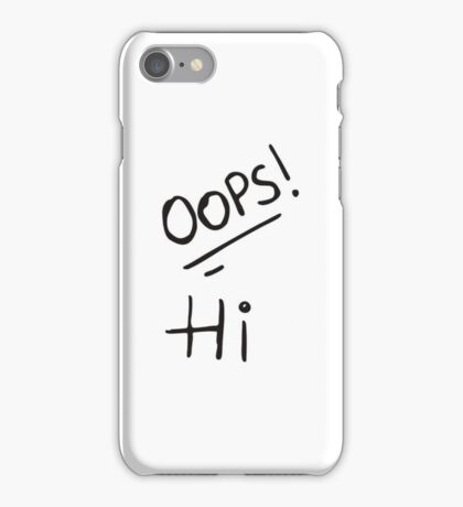 Larry Stylinson - Oops Hi  iPhone Case/Skin