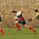 Rugby - Going for the Try - Richmond Ontario by Debbie Pinard