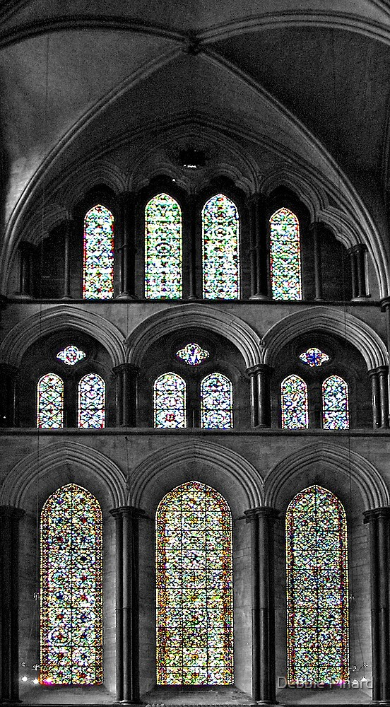 Stained Glass Window - Salisbury England by Debbie Pinard