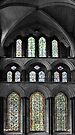 Stained Glass Window - Salisbury England by Debbie Pinard