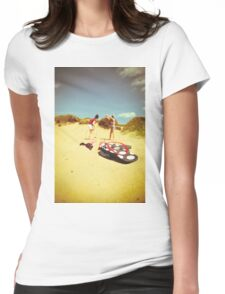 Fun At The Beach Womens Fitted T-Shirt