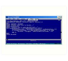 secret code-version I/d  -(050111)- ms paint/text Art Print