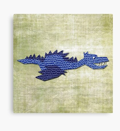 BEHOLD ... THE BLUE DRAGON Canvas Print