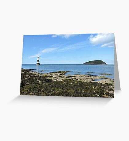 View Of Puffin Island Greeting Card
