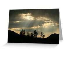 dark sunset Greeting Card