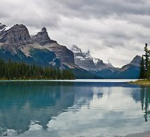 Approaching Storm, Maligne Lake by Oscar Gutierrez