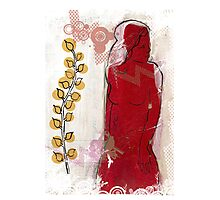 woman in red - redux Photographic Print