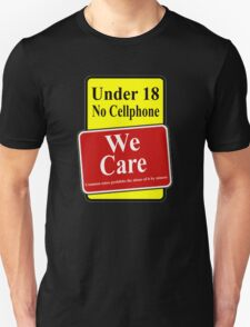 we care Unisex T-Shirt