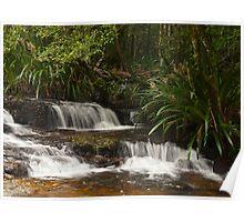 Mountain cascades Poster