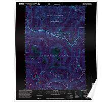 USGS Topo Map Oregon High Rock 280205 1997 24000 Inverted Poster