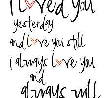 i will always love you by kasiabear