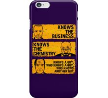KNOWS A GUY...... - version orange iPhone Case/Skin