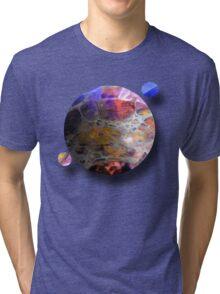 Oil slick Planets Tri-blend T-Shirt