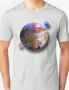 Oil slick Planets Unisex T-Shirt